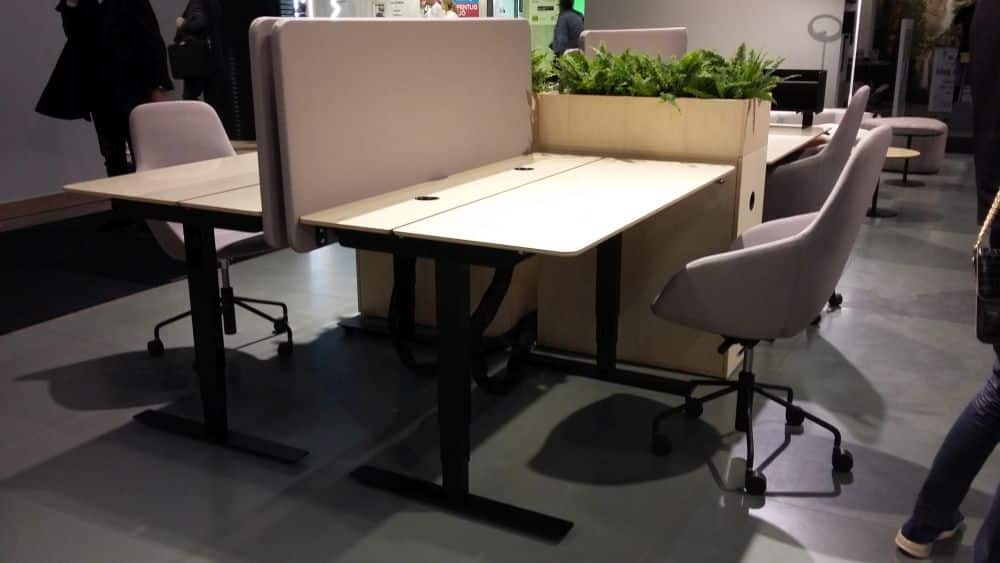 Sit stand table and Yoko stools from Horreds