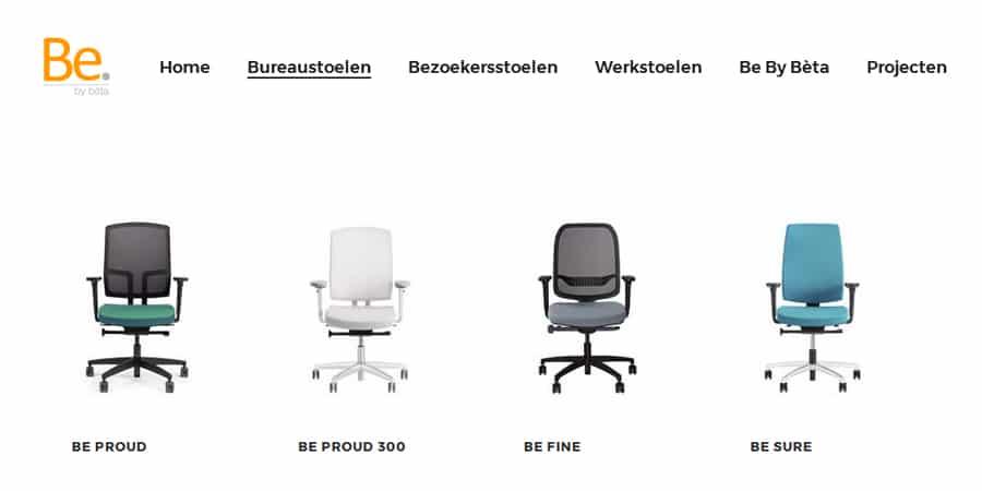 Be by b ta is de nieuwe naam van b ta kantoorstoelen for Kantoorstoelen