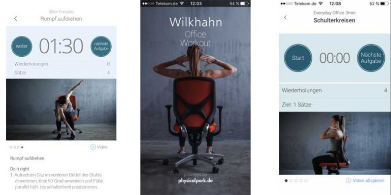 Wilkhahn office workout android apple