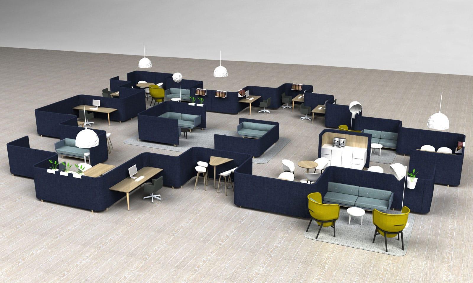 Compleet interieur met n meubel redstitch presenteert sving tijdens ddw17 officerepublic - Scheiding meubels ...
